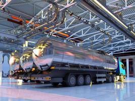 maskin i hangaren. foto