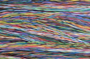 färgade elektriska kablar och kablar foto