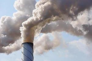 fabrikens smokestack foto