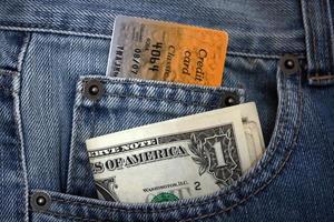 kreditkort eller dollar foto