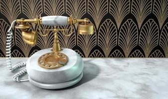 marmortelefon och art deco-scen foto