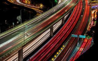 mexico motorväg periferico på natten foto