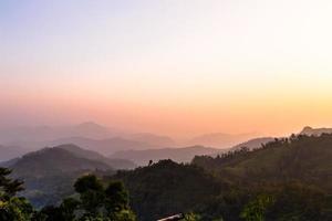 silhuett bergen foto