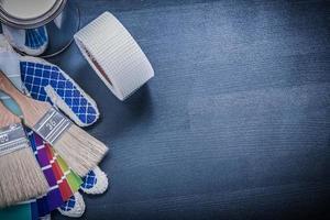 penslar kan pantone fläkt säkerhetshandskar hushållsband copysp foto