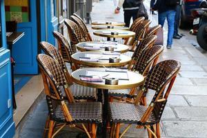 fransk restaurang i Paris foto