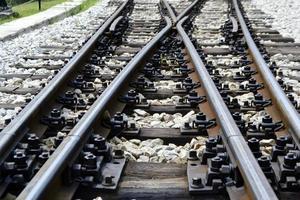 järnväg tåglinje korsning foto