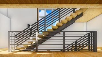 modern trappa - interiör foto