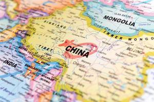 karta över Kina foto