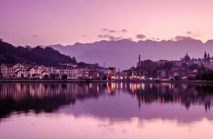 sa pa, en stad i bergen: söt humör foto