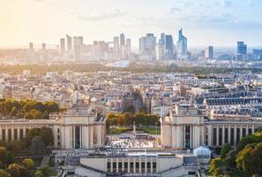 stadsbild av den nya Paris staden, Frankrike foto