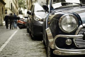 bil och strålkastare foto