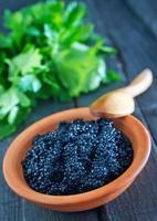 svart kaviar foto