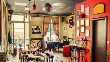 kafé interiör retro design foto