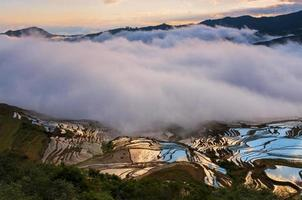 Kina Yuanyangtitian vackra landskap foto