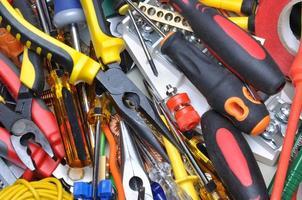 verktyg och komponentpaket foto