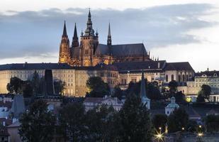 panorama över Prag, Tjeckien.