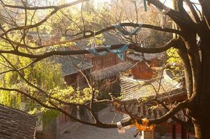 den historiska staden Lijiang, unesco världsarv. foto