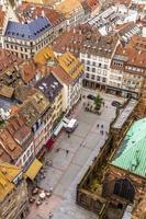 Flygfoto över Strasbourg till den gamla staden foto