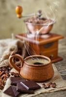svart kaffe foto