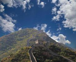 stor vägg i Kina, norr om Peking foto