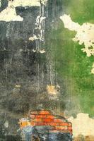 gammal yttervägg i en övergiven fabrik foto