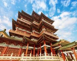 kinesisk forntida arkitektur, forntida religiös foto