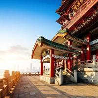 kinesisk forntida arkitektur foto
