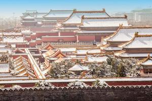 den förbjudna staden på vintern, Peking, Kina foto