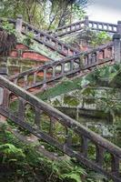 mycket vacker gammal kinesisk park foto
