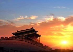 beijing kinesiska forntida arkitektur, gamla religiösa platser foto