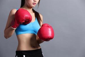 sport kvinna med hälsa figur foto