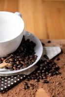 kaffe, omgivande mättat hemkoncept foto