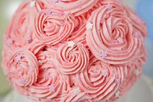 jätte rosa kopp tårta foto