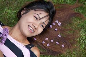 thailändsk kvinna foto
