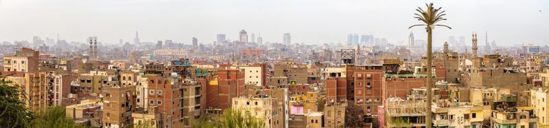 panorama över islamisk kairo - Egypten foto