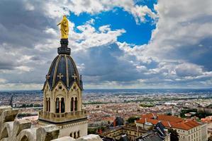 utsikt över Lyon City, Lyon, Frankrike foto