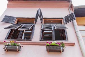 färgglada hus foto
