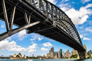 sydney hamnbro i Australien foto