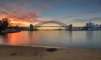 soluppgång sydney australien foto