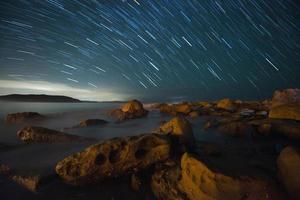 stjärnspår i palmstrand, sydney. foto