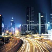 trafik i Hong Kong foto