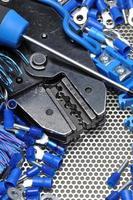 verktyg för elektriker krusare och tillbehör foto