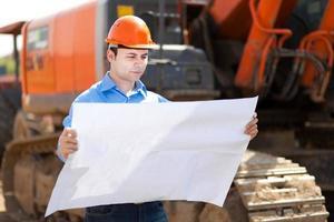 ingenjör på en byggarbetsplats foto