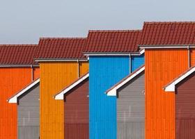 detalj av färgglada hus foto