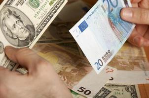 euro eller dollar foto