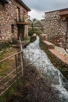 natursköna landskap i lousias ravin, peloponnes, Grekland foto