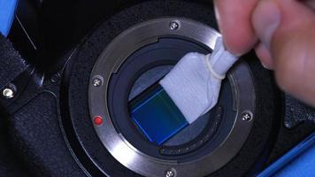 rengöring av dslr-sensor foto