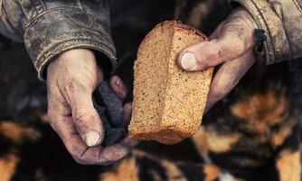 hunger och fattigdom foto