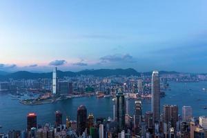 Hong Kong berömd natt utsikt foto