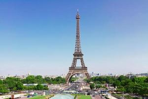 Eiffeltornet och Paris stadsbild foto